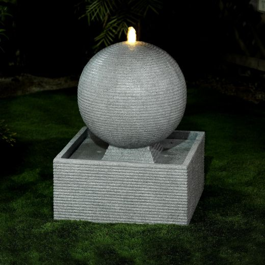 Axel Large Water Feature - Light Grey
