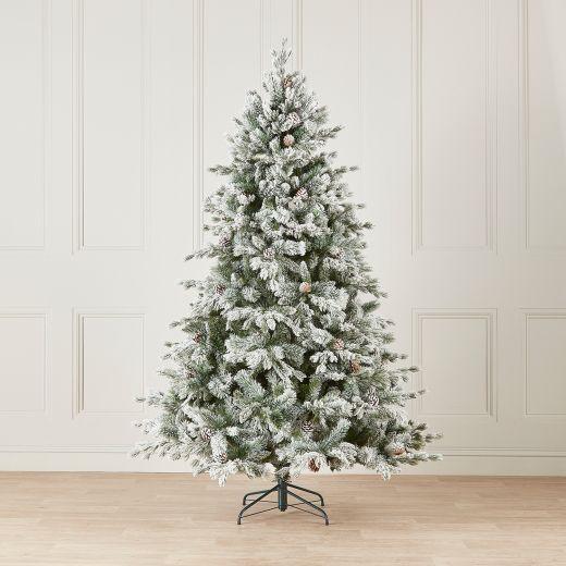 8ft Premium Snowy Grand Fir Artificial Christmas Tree