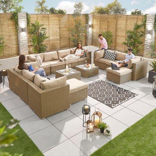 Chelsea 4A Rattan Corner Sofa Set - Willow