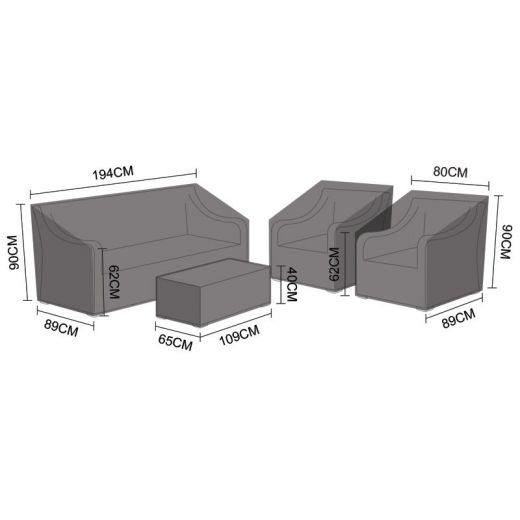 Cover Pack for Nova Oxley 3 Seater Sofa Set