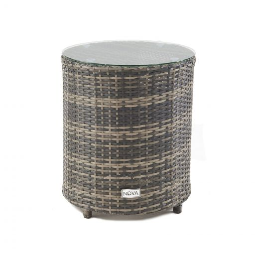 Classic Round Gas Bottle Cover Side Table - Brown