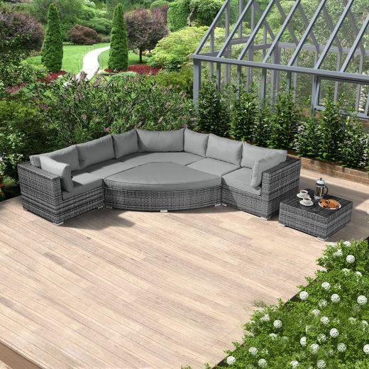 Deluxe Hampton Corner Sofa Set - Grey