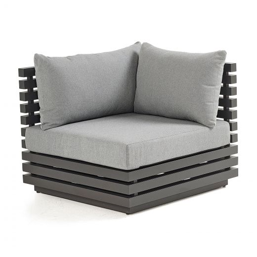 San Marino Aluminium Corner Sofa Section - Grey Frame