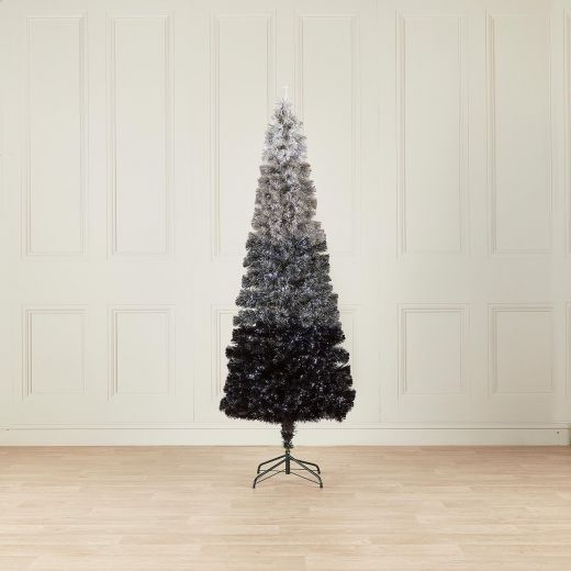 4ft Fibre Optic Grey Eclipse Fade Artificial Christmas Tree