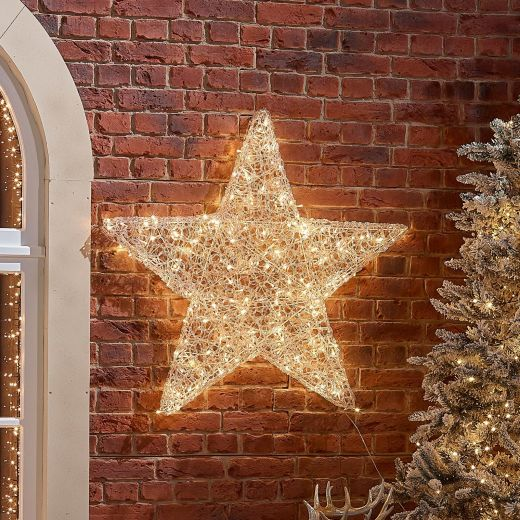 100cm Soft Acrylic Christmas Star - Warm White