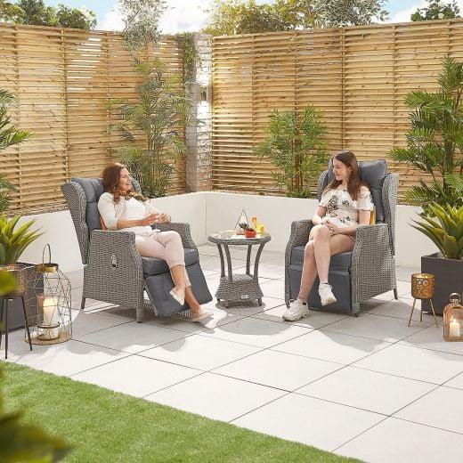 Skylar Deluxe Reclining Lounge Companion Set - White Wash