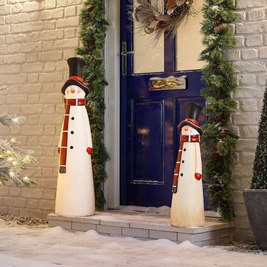 The Mr Snow Mixed Christmas Snowman Duo
