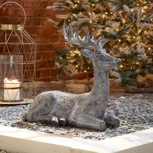 Sachie the 57cm Grey Sitting Christmas Reindeer