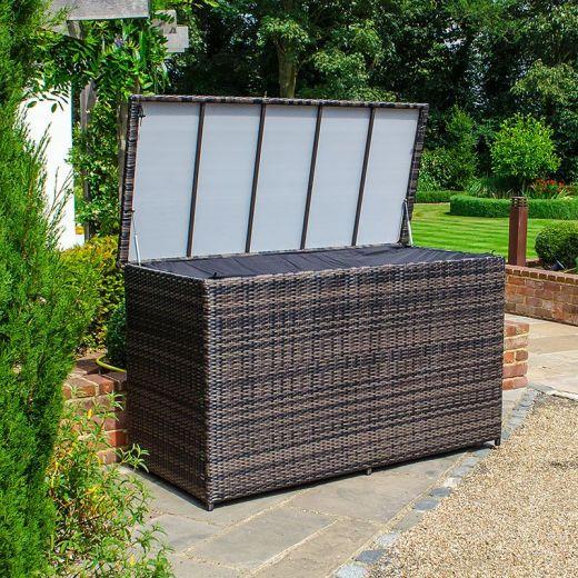 Large Cushion Storage Box - Brown