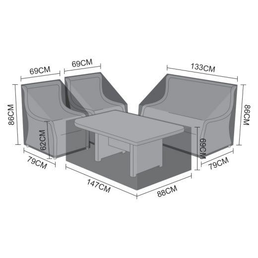 Cover Pack for Oyster 2 Seater Sofa Dining Set
