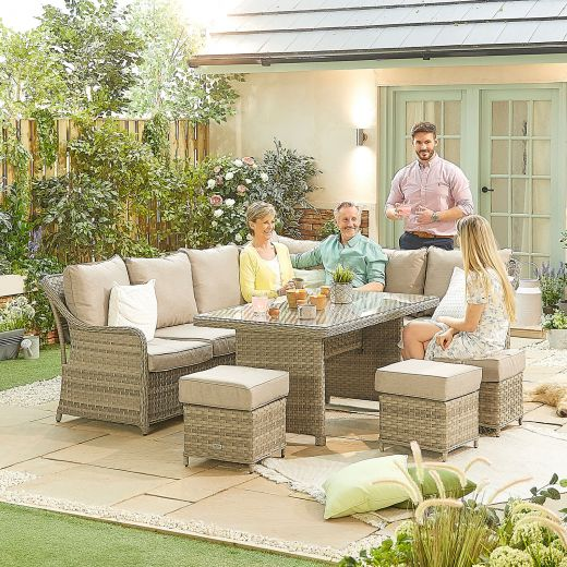 Oyster Casual Dining Corner Sofa Set