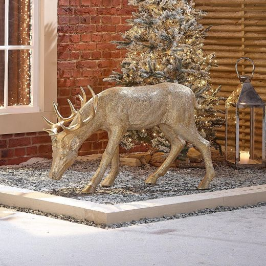 Rasha the 115cm Gold Christmas Reindeer