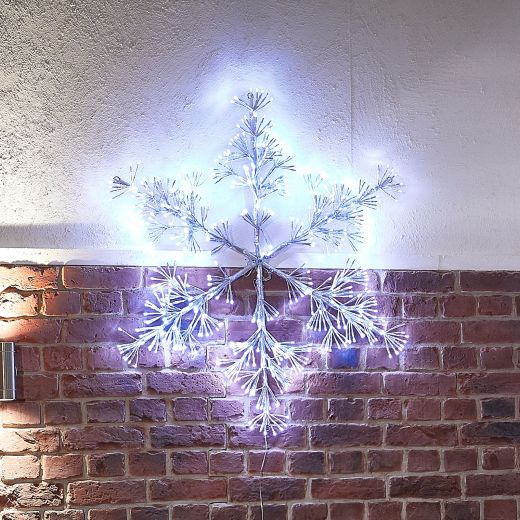 100cm Acrylic Starburst Christmas Snowflake - Cool White