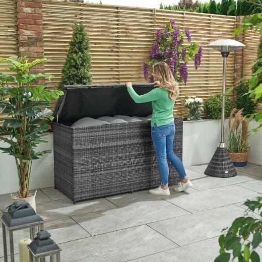 Large Cushion Storage Box - Grey
