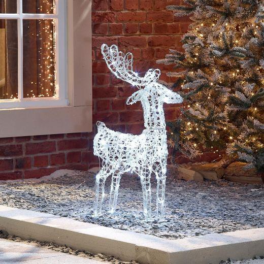 Miracle the 80cm Soft Acrylic Christmas Reindeer