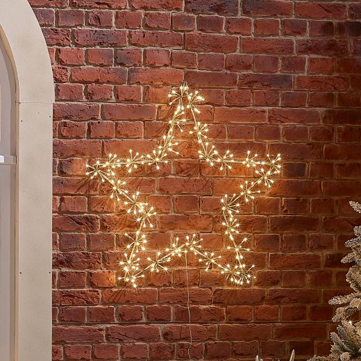 80cm Starburst Christmas Star - Warm White