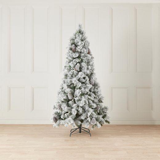 7ft Snowy Virginia Pine Artificial Christmas Tree
