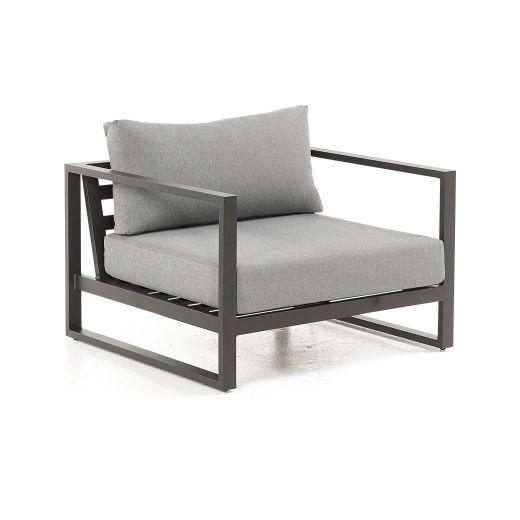Alessandria Aluminium Armchair - Grey Frame