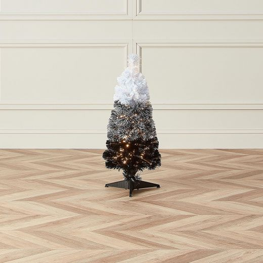 3ft Fibre Optic Eclipse Black & White Artificial Christmas Tree
