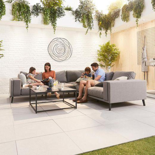 Infinity Outdoor Fabric Corner Sofa Set - Light Grey