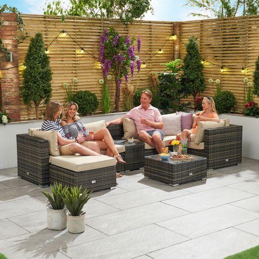 Chelsea 1A1 Rattan Corner Sofa Set - Brown