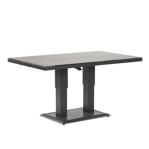 Vogue Aluminium 140cm x 85cm Rectangular Rising Table - Grey Frame