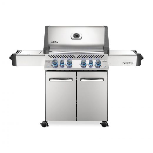 Napoleon - Prestige P500 Natural Gas Grill BBQ with Infrared Side and Rear Burners - Stainless Steel