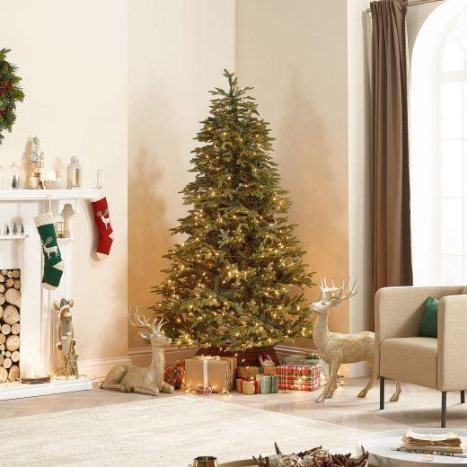 6ft Pre-Lit Canaan Fir Artificial Christmas Tree