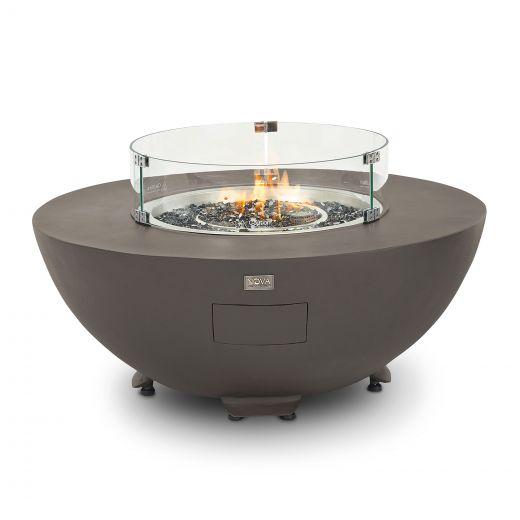 Saturn Aluminium Round Firepit Coffee Table - Coffee