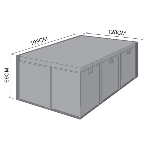 Cover for Maze Rattan 6 Seat Cube Set - 193cm x 128cm x 69cm