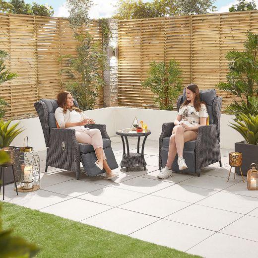 Skylar Deluxe Reclining Lounge Companion Set - Slate Grey