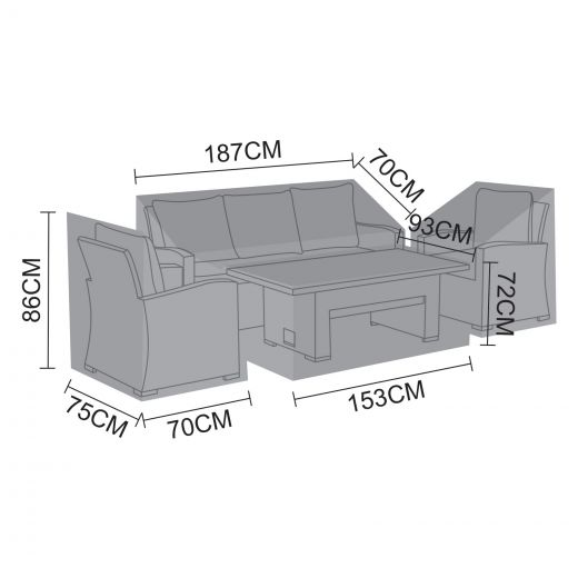 Cover Pack for Cambridge 3 Seater Sofa Set