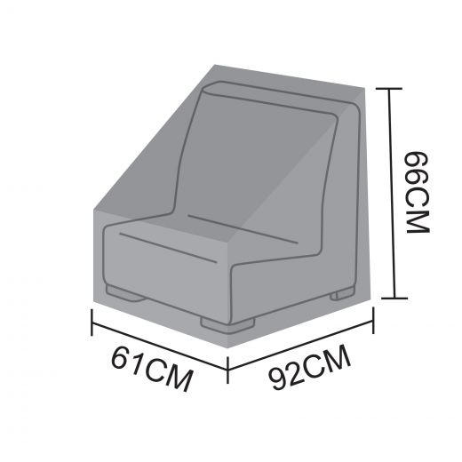 Cover for Luxor Modular Middle Sofa Section - 61cm x 92cm x 66cm