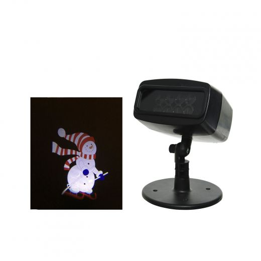 LED Snowman Animated Outdoor Projector