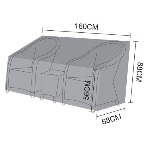 Cover for Nova Isabella 3 Piece Lounge Set - 160cm x 68cm x 88-56cm