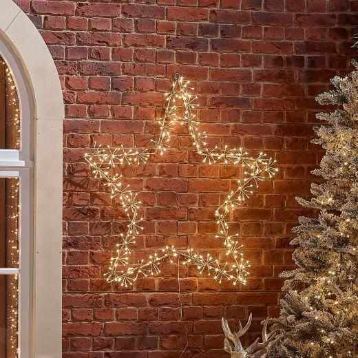 110cm Starburst Christmas Star - Warm White