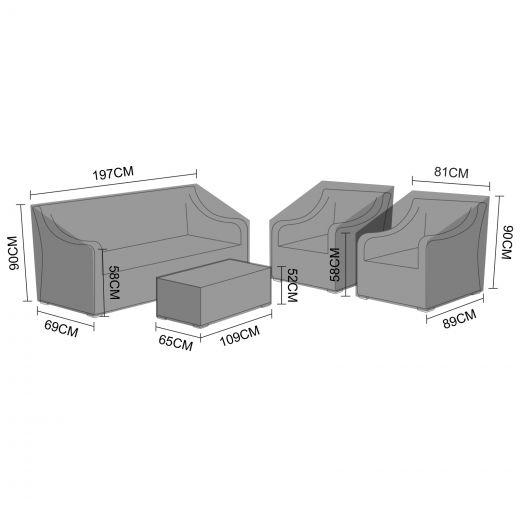 Cover Pack for Nova Harper 3 Seater Sofa Set