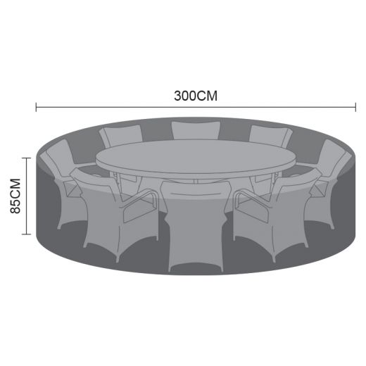 Cover for 8 Seat Round Dining Set - 300cm x 85cm