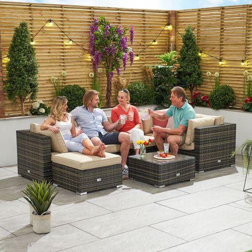 Chelsea 1A Corner Sofa Set - Brown