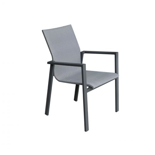 Pack of 4 Roma Dining Armchairs - Grey Frame