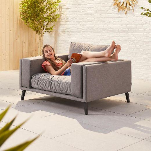 Infinity Outdoor Fabric Lounge Armchair - Light Grey