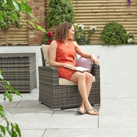 Cambridge Lounge Armchair - Brown