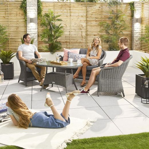 Isabella 2 Seater Sofa Set - Slate Grey