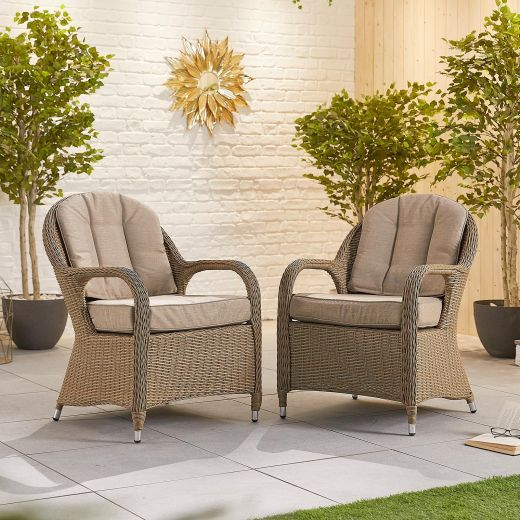 Pair of Leeanna Dining Armchairs - Willow