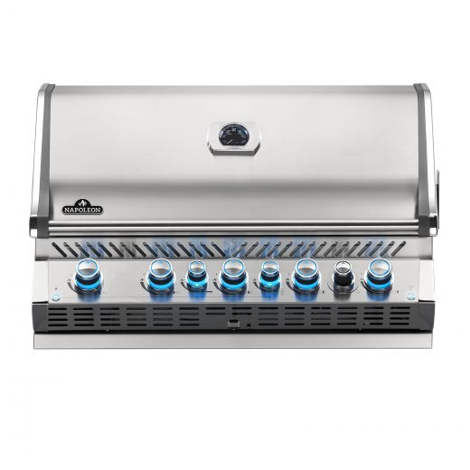 Napoleon - Built-in Prestige PRO™ 665 Natural Gas Grill Head with Infrared Rear Burner - Stainless Steel
