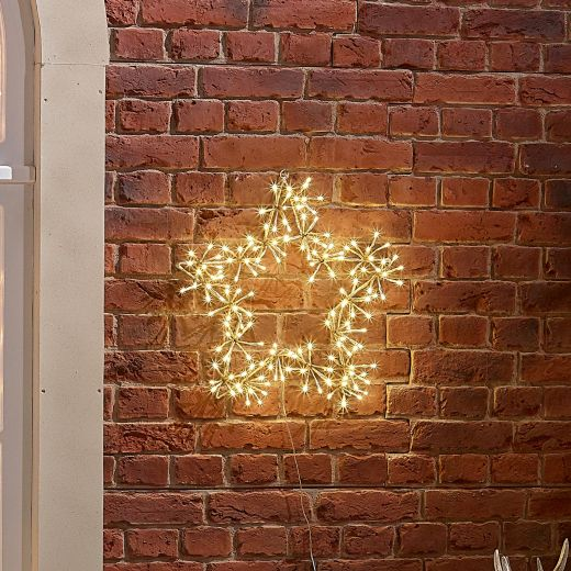 50cm Starburst Christmas Star - Warm White
