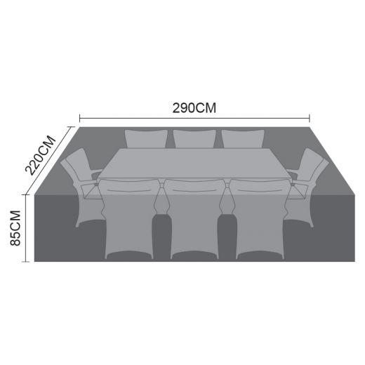 Cover for 8 Seat Rectangular Dining Set - 290cm x 220cm x 85cm