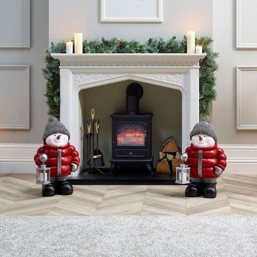 Pair of 64cm Berry the Snowman Figures