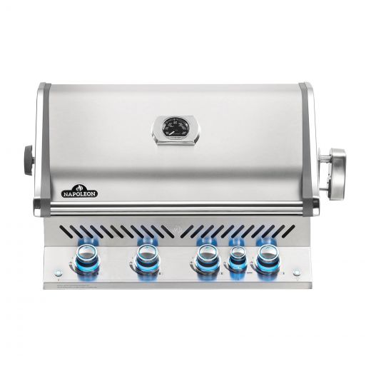 Napoleon - Built-in Prestige PRO™ 500 Natural Gas Grill Head with Infrared Rear Burner - Stainless Steel