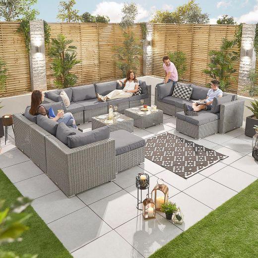 Chelsea 4A Rattan Corner Sofa Set - White Wash